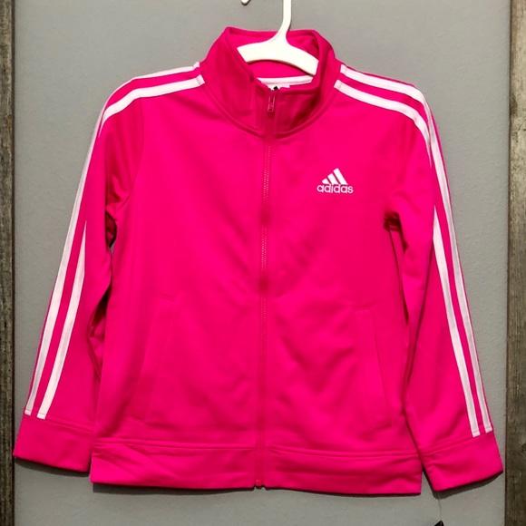 da91aa8403c9 NWT Adidas Girls Neon Pink Jacket S